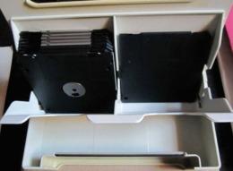 4 Boîtes À Disquettes, Marque Multiform, 20x16x4.5 Cm. Peut Contenir 18 Disquettes - - Sciences & Technique