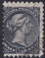Canada  .  Scott  .  34ii  . Thick Paper    .   12x12  ( Ot )   .    O    .  Cancelled     .   /    .  Gebruikt - 1851-1902 Regering Van Victoria