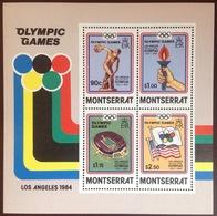Montserrat 1984 Olympics Minisheet MNH - Montserrat
