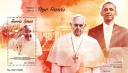 Sierra Leone 2015  Pope Francis ,Obama - Sierra Leone (1961-...)
