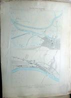 17 MARANS TONNAY CHARENTE PLAN DU PORT ET DE LA VILLE  EN 1886  DE L'ATLAS DES PORTS DE FRANCE 49 X 66 Cm - Cartas Náuticas