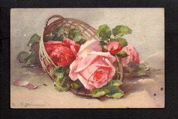 Illustrateur ( K ) / Dessin Signé C. Klein / Fleurs,roses - Klein, Catharina