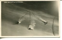 006875  Abfahrt Am Gletscher  1927 - Winter Sports