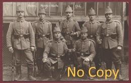 Brüssel - Bruxelles Belgique : Fotokaart - Kriegs-Wache 1915 / Carte Photo Soldats Allemands Gare Du Nord Guerre 1914-18 - Cercanías, Ferrocarril