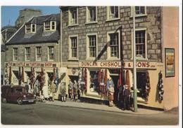 Duncan Chisholm Kilt Maker Tartan Shop Castle Street Inverness Postcard - Inverness-shire