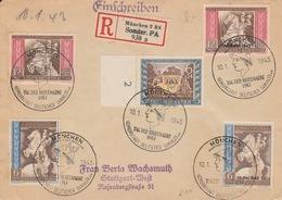 Deutshe Reich Postkongress Wien 10.1. 1943 Dag Der Briefmarken ?? - Storia Postale