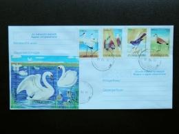 FDC Cover From Uzbekistan 2010 Animals Fauna Birds Oiseaux Swan Stork - Ouzbékistan