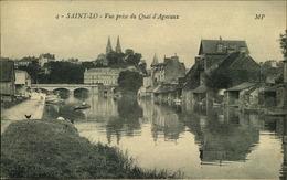 N°1843 RRR DID4 SAINT LO VUE PRISE DU QUAI D AGNEAUX - Saint Lo