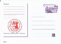 J0875 - Tschechoslowakei / Ganzsachen (1992) Internationales Schachturnier Mephisto GRAND PRIX '92 (rot) - Scacchi