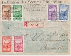 Luxembourg  FDC Aangetekende Brief Naar Brussel 26.8.1936 Pracht - Lituanie