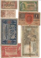 Europe Lot 7 Old Banknotes - Billets