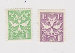 MALTE  Taxe N° 27/28  Neuf** (dentelé 12) - Malta