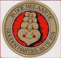 Sticker Autocollant Aufkleber Ik Doe Mee Aan De Gouden Hartjes Aktie 1974 Adhesivo CHARITY - Autocollants