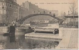 75 PARIS XIe Canal St-Martin - Le Pont Tournant - Arrondissement: 11