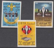 LIBYA - 1962 IMPERF Scouts. Scott 222-224. MNH ** - Libya