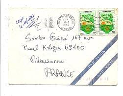 SENEGAL LETTRE DE DAKAR-COLOBANE POUR LA FRANCE 1987 - Senegal (1960-...)