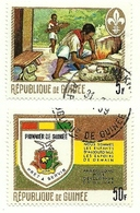 1969 - Guinea Repubblica 386 + 391 Pionieri - Guinea (1958-...)