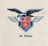 Courrrier 1936 / Entête Emblème BA Dijon / Base Aérienne / Aviation / 21 Dijon - Documents