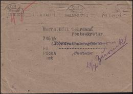 Gebühr-bezahlt-Brief Handschriftlich 45 (Pf) MAS HAMBURG SCH A 10.7.48  - Allemagne