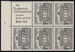 HBl. 9 Aus MH 2 Berliner Bauten, Herstellungsbedingter Punkt Im Papier, ** - Berlin (West)