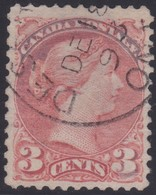 Canada  .  Scott  .  41 .   12x12  ( O )   .    O    .  Cancelled     .   /    .  Gebruikt - 1851-1902 Regering Van Victoria