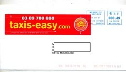 Lettre Cachet Mulhouse Entete Taxis Easy - Storia Postale