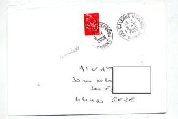 Lettre Cachet Cayenne Ceperou Guyane Sur Roulette - Marcophilie (Lettres)