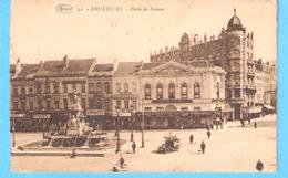 Bruxelles-Brussel-1926-Porte De Namur-café Restaurant De L'Horloge-Brasserie Reine Elisabeth-Pub.Bière Caulier-animée - Bauwerke, Gebäude