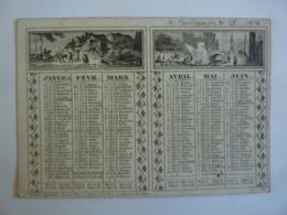 ALMANACH 1851 CALENDRIER  Allégorie Paysages Divers Et Arabesque  Edit Dubois Et Trianon - Calendriers