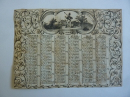ALMANACH 1840 CALENDRIER  Allégorie  L'engagement  , Arabesque Fleurs - Calendars