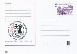 J0877 - Tschechoslowakei / Ganzsachen (1992) Internationales Schachturnier Mephisto GRAND PRIX '92 (schwarz / Rot) - Scacchi