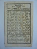ALMANACH  CALENDRIER  L'AGENDA 1837  (Lyon Libr. Ayné ) - Calendriers