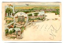 GROETEN Uit VAALS Hotel Pensionat Heller Color Litho Sent 1900 - Otto Dippern Leipzig - Vaals