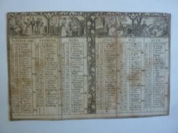 ALMANACH 1841 CALENDRIER  Allégorie La Vie Familliale - Calendriers