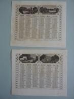 ALMANACH 1857 CALENDRIER  2 SEMESTRIELS   Allégorie Paysages  Edit Dubois Trianon - Calendriers