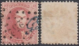 BELGIQUE COB G16 OBL LP 252 MONS GUILLOCHIN EN BLEU (DD) DC-2240 - 1863-1864 Medallions (13/16)