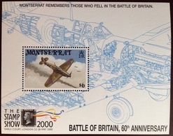 Montserrat 2000 Battle Of Britain Aviation Aircraft Minisheet MNH - Montserrat