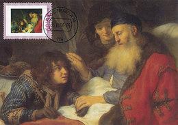 D36365 CARTE MAXIMUM CARD 2006 NETHERLANDS - ISAAC BLESSES JACOB BY GOVAERT FLINCK CP ORIGINAL - Religione