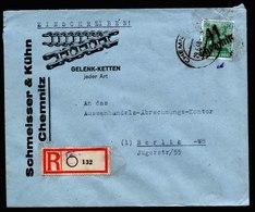 A5939) SBZ Brief Chemnitz 29.06.48 Aufdruck 41 Chemnitz Handstempel Mi.181X EF - Zone Soviétique