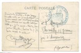 Guerre 14 18 TOUL Meurthe Et Moselle Cachet Bleu PLACE DE TOUL Hôpital BAUTZEN ANNEXE 1915..  2 Scans - Marcophilie (Lettres)