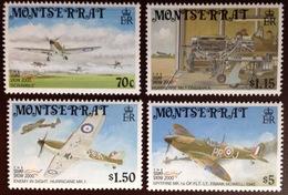 Montserrat 2000 Battle Of Britain Aviation Aircraft MNH - Montserrat