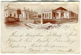 NED. INDIE GROET Uit BATAVIA 1900 Societeit C Concordia Schouwburg Sent To London - Indonesien