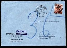 A5940) SBZ Brief Dresden 12.07.48 Aufdruck 14 Dresden Handstempel Mi.174II EF - Sowjetische Zone (SBZ)