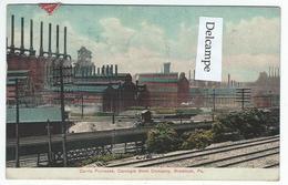 BRADDOCK (PA) - Carrie Furnaces, Carnegie Steel Company   -  (texte En Esperanto ?) - Etats-Unis