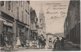 CPA 38 VINAY Café Simonet Coiffeur Commerce Eugène Monnet L'Isère Pittoresque Artige N° 117 - Francia