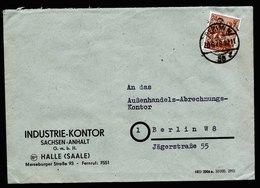 A5941) SBZ Brief Berlin 30.06.48 Aufdruck 20 Halle Handstempel Mi.174IV EF - Sowjetische Zone (SBZ)