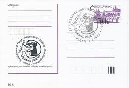 J0878 - Tchécoslovaquie / Entiers Postaux (1992) Plzen 1: Tournoi International D'échecs Mephisto GRAND PRIX '92 (noir) - Echecs
