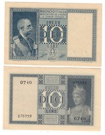 Italy 10 Lire 1944 UNC/UNC- FDS/FDS- - Italia – 10 Lire