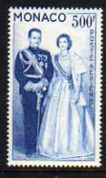 Monaco PA  N° 72 X  Couple Princier : 500 F. Bleu Trace De Charnière Sinon TB - Airmail