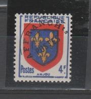 FRANCE /1949 / Y&T Préo N° 105a ** : Armoiries De L'Anjou Surchargé (surcharge Fine) - Gomme D'origine Intacte - 1893-1947